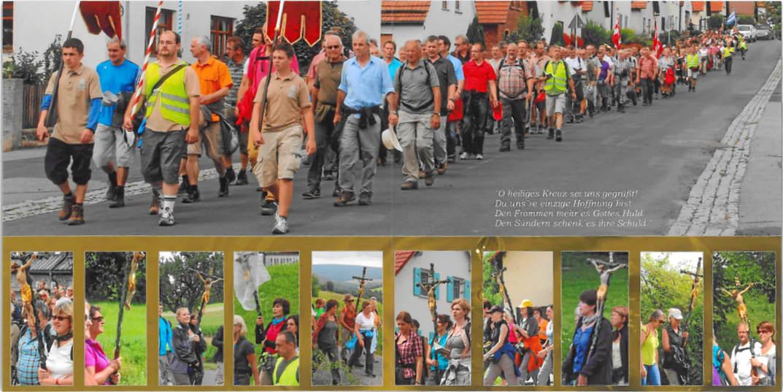 Doppelseite aus dem Fotobuch zur Wallfahrt 2011