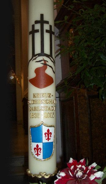 Kerze der Kreuzbruderschaft Karlstadt